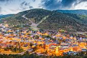 Park City, Utah, USA downtown in autumn at dusk. poster