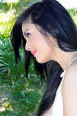 picture of filipina  - Taken amidst green scene in a city outskirt - JPG
