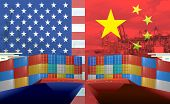 Concept Image Of Usa-china Trade War, Economy Conflict, Us Tariffs On Exports To China, Tradewar poster