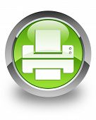 Símbolo brillante de la impresora