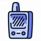 Walkie Talkie Icon. Outline Walkie Talkie Vector Icon For Web Design Isolated On White Background poster