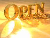 3D Open Source Gold Text