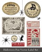 Fun Halloween Vintage Style Labels and Icons.  Use to set the scene for your spooky Halloween!
