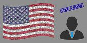 Boss Items Are Organized Into American Flag Collage With Blue Rectangle Rubber Stamp Watermark Of Li poster