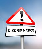 stock photo of racial discrimination  - Illustration depicting a red and white triangular warning sign with a  - JPG
