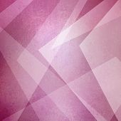 Abstract Pink Background, Triangles And Angled Shapes Layered Line Design Element, Faded Texture Des poster