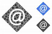 Email Composition Of Small Circles In Various Sizes And Color Tinges, Based On Email Icon. Vector Sm poster