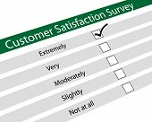 pic of poll  - Illustration of customer satisfaction survey on white background - JPG