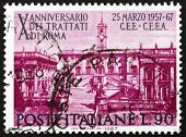 Postage stamp Italy 1967 shows Seat of Parliament on Capitoline