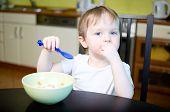 Little Boy Eating Cereals
