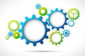 image of structural engineering  - illustration of abstract web design with copy space in cog wheel - JPG