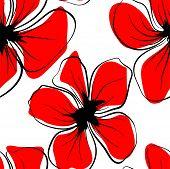Poppies For Textile Design. Poppy Seamless Pattern. Textile Print Design. Fabric Wallpaper Print Tex poster
