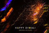 Abstract Background Of Diwali, Diwali Firework Background, Banner, Poster, Golden Firework Backgroun poster