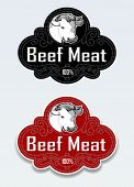 Beef Meat Seal / Sticker