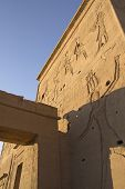 Carved Wall Of The Temple  Philae Egypt)