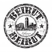 Beirut grunge rubber stamp