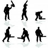 Man met Chainsaw Vector Illustratie
