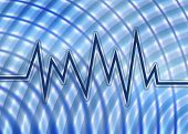 Fun And Funky Sound Wave And Background