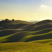 picture of senesi  - Tuscany rural landscape in Crete Senesi land - JPG