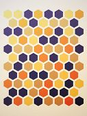 abstract hexagon background. Vector illustration
