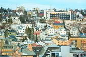 stock photo of tromso  - Tromso Cityscape at dusk Troms Norway - JPG