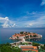 Beautiful Sveti Stefan Peninsula In Montenegro