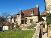 A street Sarlat Dordogne France