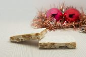 Nougat christmas dessert typical european and latinoamerican