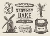 Vintage bakery objects