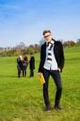 Confident Student In Park