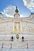ROME - JANUARY 15: Victor Emmanuel II monument also known as Altar of Fatherland built in honor of f