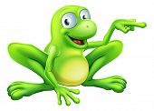 Frog Pointing Illustration
