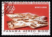 Postage Stamp Panama 1967 Indian Ruins At Monte Alban