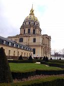 Dome Des Invalides. Burial Place Of Napoleon Bonaparte In Paris