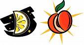 Lemon Moon And Peach Sun