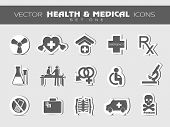 Medical icons set. EPS 10.