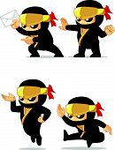 Постер, плакат: Ninja Customizable Mascot 8