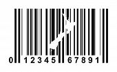 New Zealand shopping bar code isolated on white background.