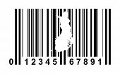 Finland shopping bar code isolated on white background.