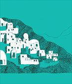Santorini island, Greece illustration