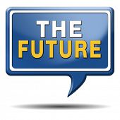bright future ahead planning a happy future having a good plan button icon with text and word concep