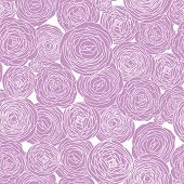 Romantic seamless floral pattern. Wedding texture with pink ranunculus. Copy square to the side and