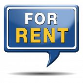 image of house rent  - For rent sign - JPG