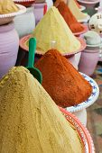 Spices at the market Marrakech, Morocco and Africa
