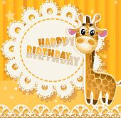Happy Birthday yellow openwork card