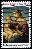 Painting By Artist Raphael, Madonna And Child