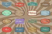 Retro Color Labels