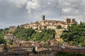Panorama Of Colle Di Val D'elsa, The City Of Crystal, Tuscany, Italy