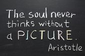 image of soul  - famous Aristotle quote  - JPG
