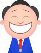 Funny Businessman Happy